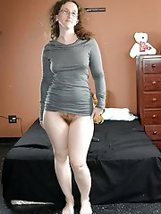 Shocking mature mademoiselle with warm slit