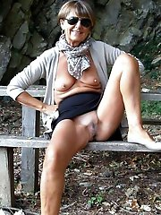Enchanting older mommies revealing their titties