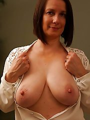 Delicious mature housewives playing with their breasts