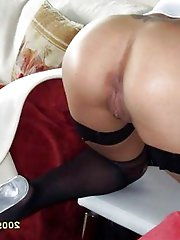 Exciting mature lasses teasing like a pro