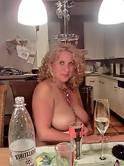 Shocking aged babe in her solo play
